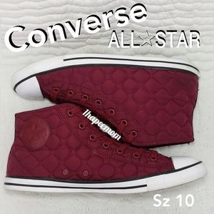 Converse All Stars Quilted High Tops Women's Sz 10
